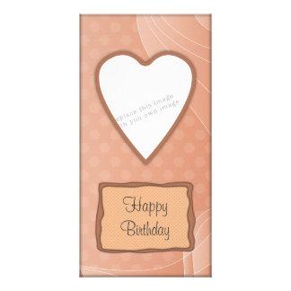 Romantic heart design photo cards