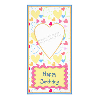 Romantic heart design picture card
