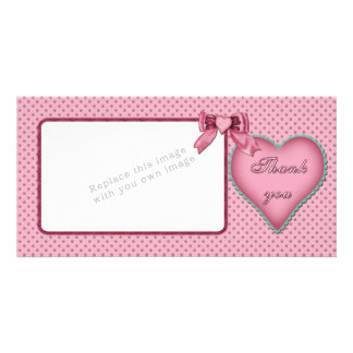 Romantic heart design / Thank you Card