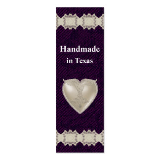Romantic Heart Hang Tag Business Card