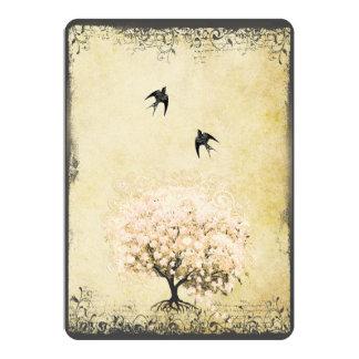 Romantic Heart Leaf Pink Tree Love Bird Wedding 13 Cm X 18 Cm Invitation Card