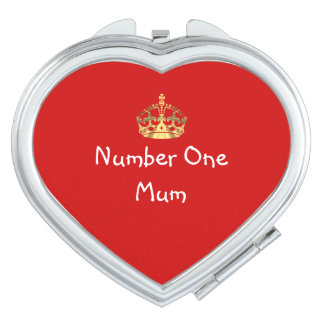Romantic heart mothers day mirror for makeup