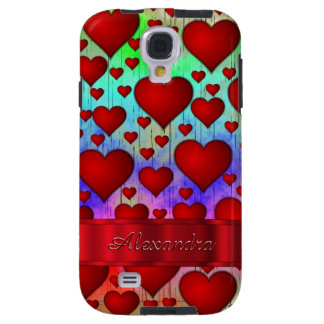 Romantic heart pattern personalized galaxy s4 case