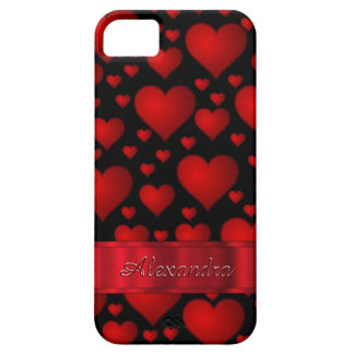 Romantic heart pattern personalized iPhone 5 cover