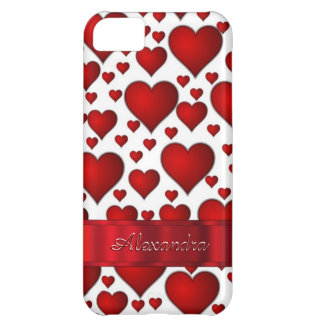 Romantic heart pattern personalized iPhone 5C case
