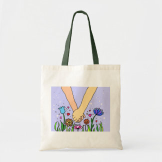 Romantic Holding Hands - dating / anniversary gift Budget Tote Bag