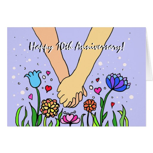 Romantic Holding Hands - dating / anniversary gift Greeting Cards