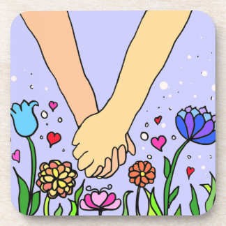 Romantic Holding Hands - dating / anniversary gift Coaster