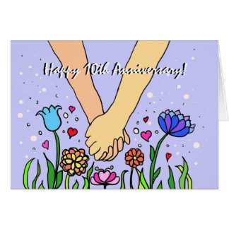 Romantic Holding Hands - dating / anniversary gift Greeting Card