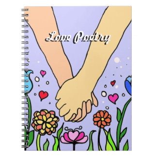 Romantic Holding Hands - dating / anniversary gift Notebook