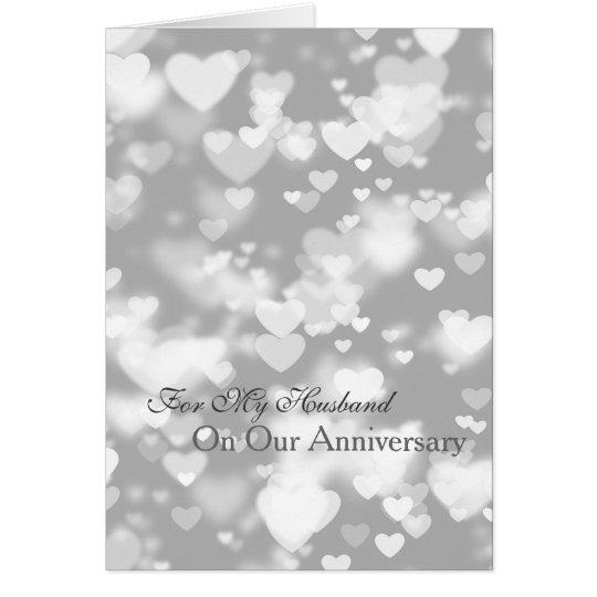 Romantic I Love You Anniversary Hearts Card