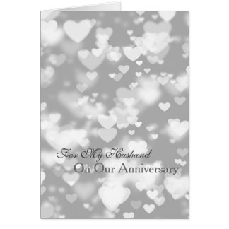 Romantic I Love You Anniversary Hearts Greeting Card
