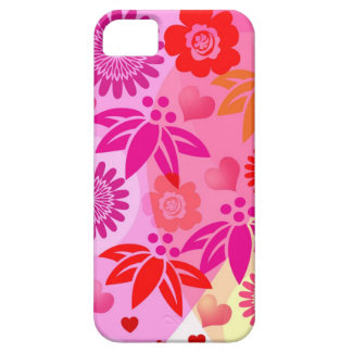 Romantic iPhone 5 case Hearts & flowers