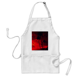 romantic island red aprons