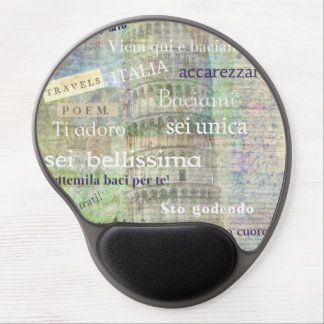 Romantic Italian Phrases and words Gel Mousepads