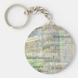 Romantic Italian Phrases and words Key Ring