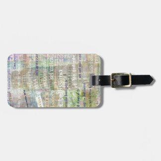 Romantic Italian Phrases and words Luggage Tag