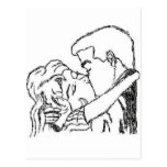 Romantic Kiss Postcard