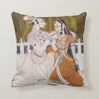 Romantic Krishna and Radha Cushion
