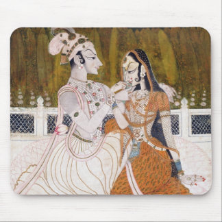 Romantic Krishna and Radha Mouse Mat