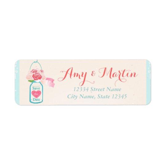 Romantic Label Return Address Label
