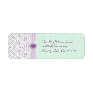 Romantic Lace & Flower, Lavender & Mint Green
