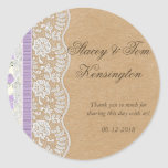 Romantic Lacey Dreams With Flowers Round Sticker