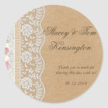 Romantic Lacey Dreams With Flowers Stickers