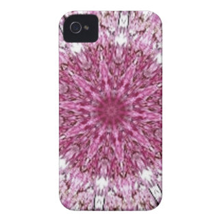 Romantic Lacy Pink Kaleidoscope iPhone 4 Covers