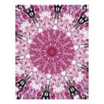 Romantic Lacy Pink Kaleidoscope Full Color Flyer