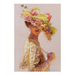 Romantic Lady Victorian Decor Poster