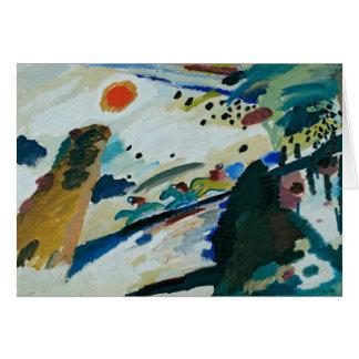 Romantic Landscape by Wassily Kandinsky Card