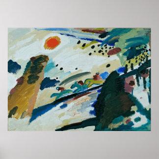 Romantic Landscape by Wassily Kandinsky Poster