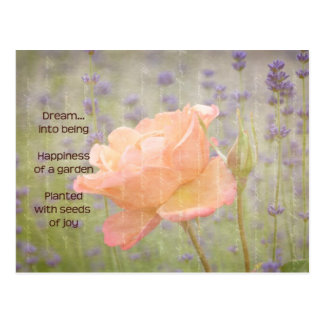 Romantic Lavender and Rose Postcard