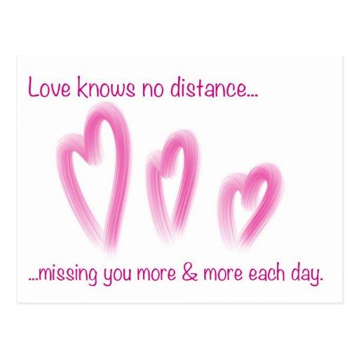 Romantic Long Distance Relationship PostCard
