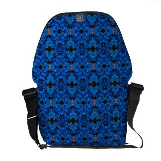 Romantic Love Blue Glitter Roses Messenger Bag