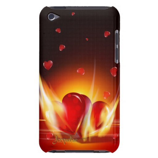 Romantic Love Burning Hearts iPod Case iPod Touch Case