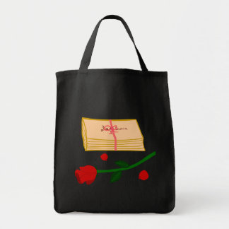 Romantic Love Letters Grocery Tote Bag