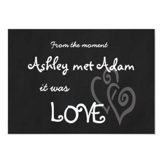 Romantic Love Wedding Invitation | Chalkboard