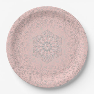 Romantic Mandala Pattern | Large Paper Plates