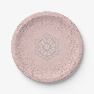 Romantic Mandala Pattern | Small Paper Plates