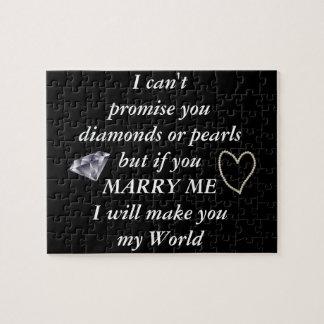 Romantic Marry Me Poem Jigsaw Puzzle
