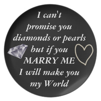 Romantic Marry Me Poem Plate