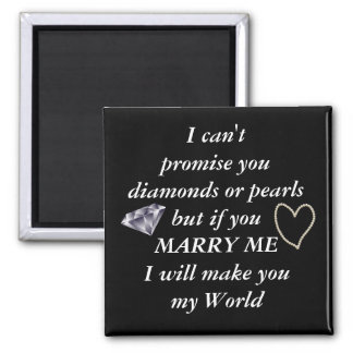 Romantic Marry Me Poem Square Magnet