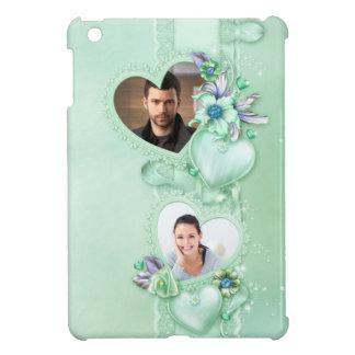 Romantic Mint Green Photo Hearts - Customize iPad Mini Case