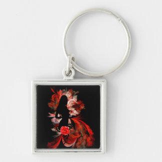 Romantic modern woman key chain