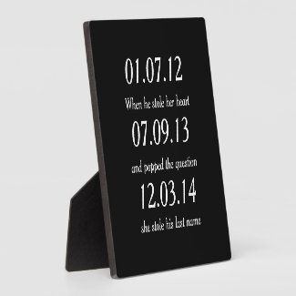 Romantic Moments Personalised Dates Custom Wedding Plaque