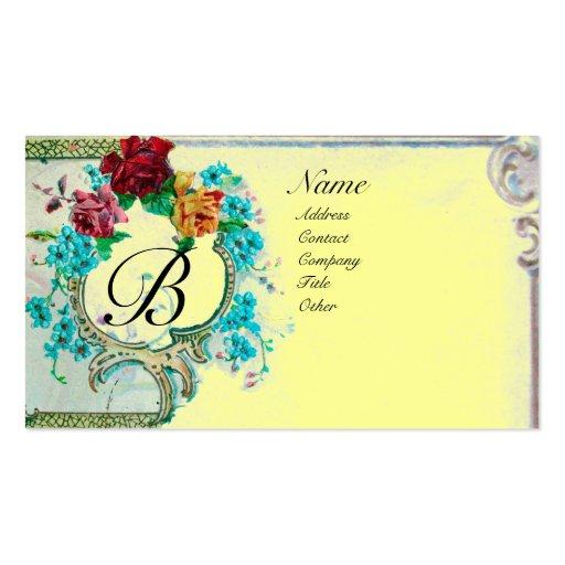 ROMANTIC MONOGRAM 3 BUSINESS CARD TEMPLATES