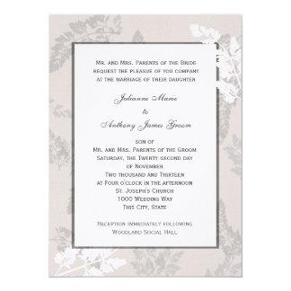 Romantic Nature Silver Wedding 14 Cm X 19 Cm Invitation Card