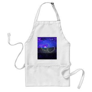 romantic night blue apron